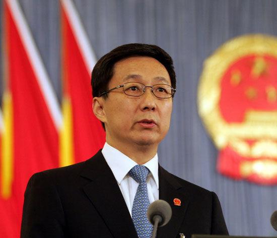 图为上海市市长韩正.(资料图片)